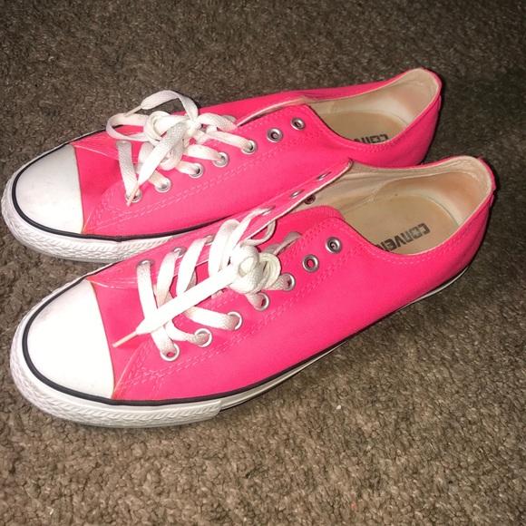 Converse Shoes | Neon Pink Chucks